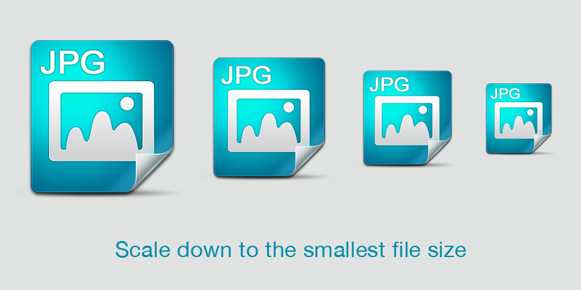 Scale down to the smallest file size possible